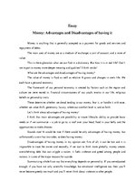Essay about money advantages and disadvantages