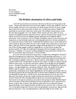 Essays 'The British Colonization of Africa and India', 1.