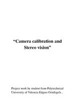 Research Papers 'Camera Calibration and Stereo Vision Using Python', 1.
