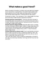 a good friend essay