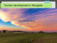 Presentations 'Tourism Development in Mongolia', 1.