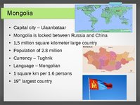 Presentations 'Tourism Development in Mongolia', 2.