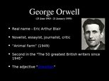 "Presentations 'Book Report. George Orwell ""1984""', 2."
