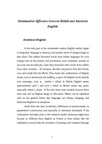 Research Papers 'Difference between American and British Language', 2.