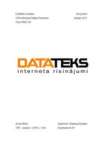 "Term Papers 'Company ""Datateks""', 1."