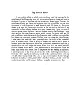 Essay on my dream house