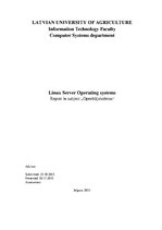 Research Papers 'Linux Server Operating Systems', 1.