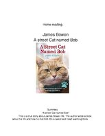 "Essays 'Home Reading. James Bowen ""A Street Cat Named Bob""', 1."