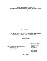 Term Papers 'Development of Web Based Gravity Model for Forecasting the Commuters', 1.