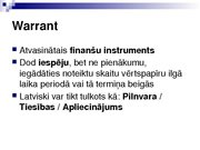 Research Papers 'Security Analysis: Warrant (Finance)', 8.