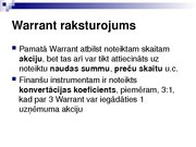 Research Papers 'Security Analysis: Warrant (Finance)', 11.