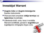 Research Papers 'Security Analysis: Warrant (Finance)', 12.