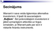 Research Papers 'Security Analysis: Warrant (Finance)', 15.