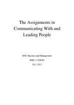 Research Papers 'Communicating With and Leading People', 1.