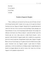 rappaccinis daughter research paper