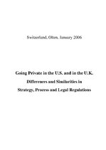 Term Papers 'Going Private in UK and US. Differences and Similarities in Strategy, Process an', 3.
