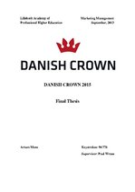 Term Papers 'Danish Crown', 1.