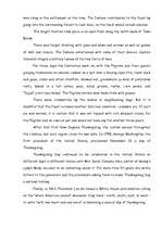 The History of Thanksgiving Essay Sample