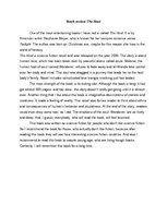 "Essays 'Book Review ""The Host""', 1."