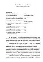 Summaries, Notes 'Report on Science Survey Conducted at Secondary School', 1.