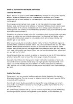 Summaries, Notes 'Digital Marketing Ideas for Media Company', 1.