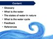 Presentations 'Water Cycle', 2.