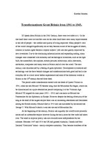 Essays 'Transformations: Great Britain from 1901 to 1945', 1.
