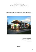 Research Papers 'The Use of Colours in Architecture', 1.