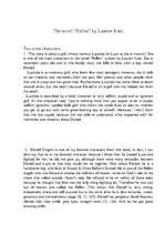 "Summaries, Notes 'Analysis of the Book ""Fallen"" ', 1."
