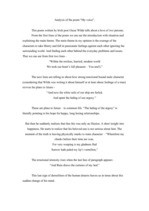 "Essays 'Analysis of the Poem ""My Voice"" by Sir Oscar Wilde', 2."