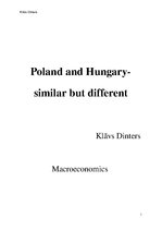 Research Papers 'Macroeconomic Analysis of Poland and Hungary', 1.