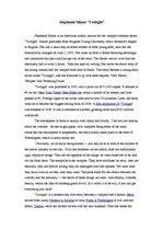 twilight book review essay