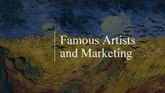 Summaries, Notes 'Famous Аrtists and Мarketing', 3.