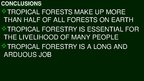 Presentations 'Tropical Forestry', 11.
