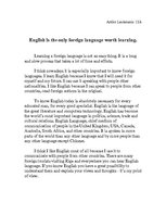 english as a world language essay