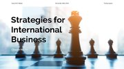 Presentations 'Strategies for International Business', 1.