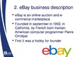 Presentations 'Amazon and eBay Marketing Compare', 11.