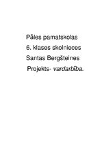 Research Papers 'Projekts', 1.